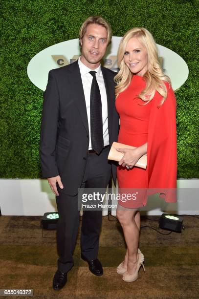 NHL player Cale Hulse and actress Gena Lee Nolin attend Muhammad Ali's Celebrity Fight Night XXIII at the JW Marriott Desert Ridge Resort Spa on...