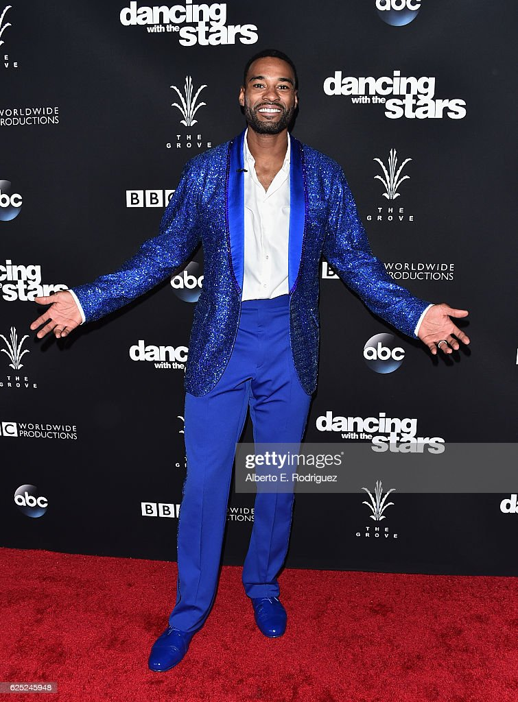 NFL player Calvin Johnson attends ABC's 'Dancing With The Stars' Season 23 Finale at The Grove on November 22, 2016 in Los Angeles, California.