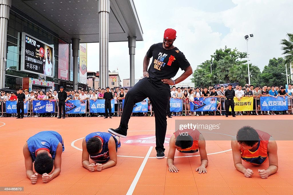 NBA Players Eric Griffin And Carl Landry Visits Guangzhou