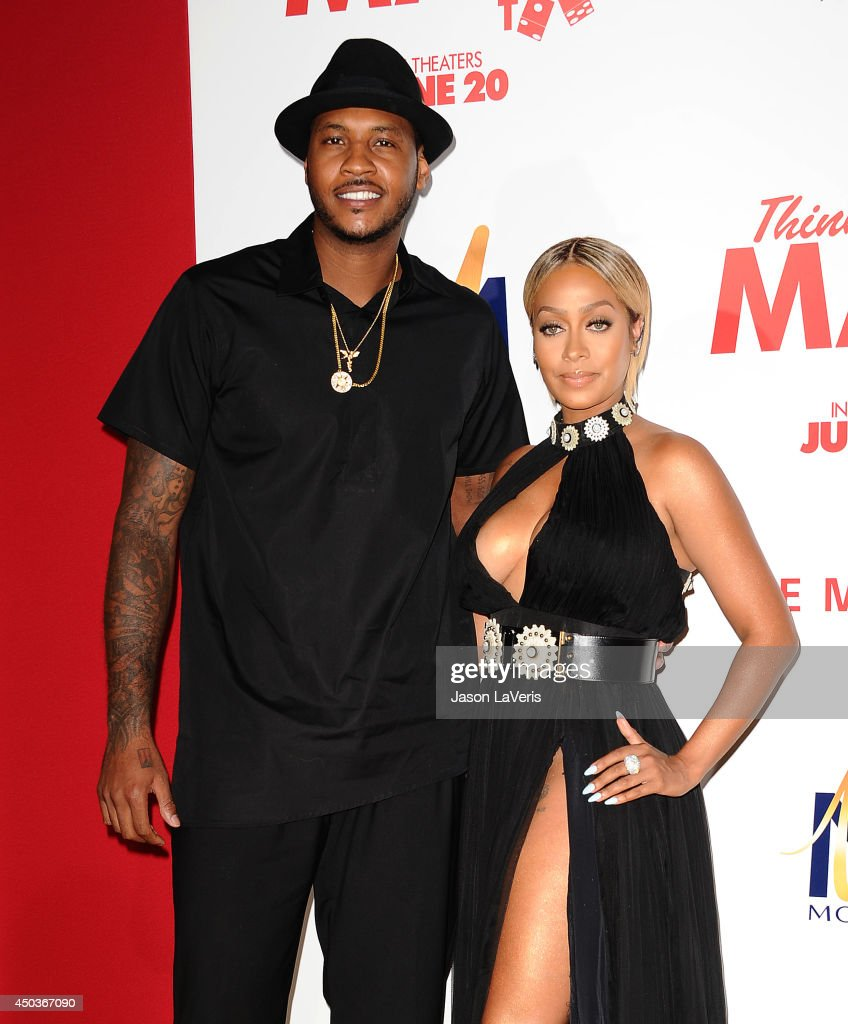 NBA player <a gi-track='captionPersonalityLinkClicked' href=/galleries/search?phrase=Carmelo+Anthony&family=editorial&specificpeople=201494 ng-click='$event.stopPropagation()'>Carmelo Anthony</a> and actress LaLa Anthony attend the premiere of 'Think Like A Man Too' at TCL Chinese Theatre on June 9, 2014 in Hollywood, California.