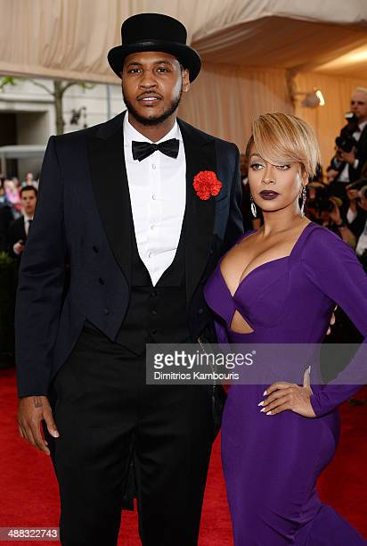 NBA player Carmelo Anthony and LaLa Anthony attend the 'Charles James Beyond Fashion' Costume Institute Gala at the Metropolitan Museum of Art on May...