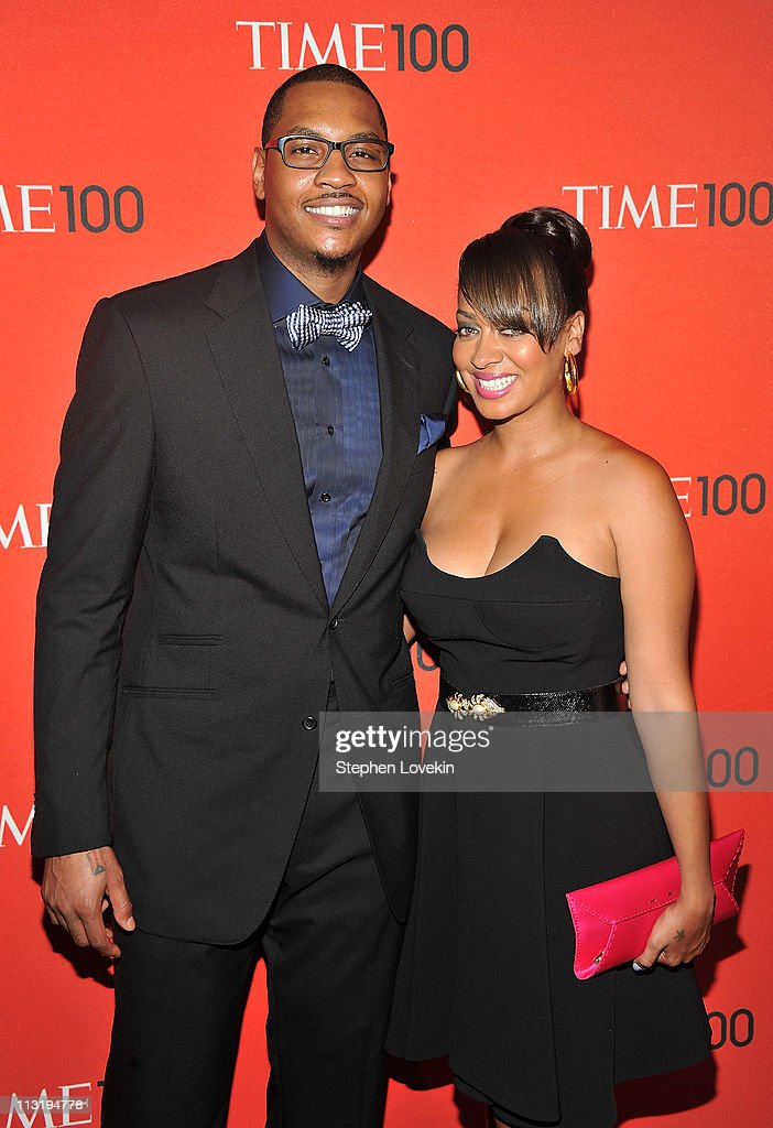 NBA player Carmelo Anthony and Lala Vazquez attend the TIME 100 Gala, TIME'S 100 Most Influential People In The World at Frederick P. Rose Hall, Jazz at Lincoln Center on April 26, 2011 in New York City.