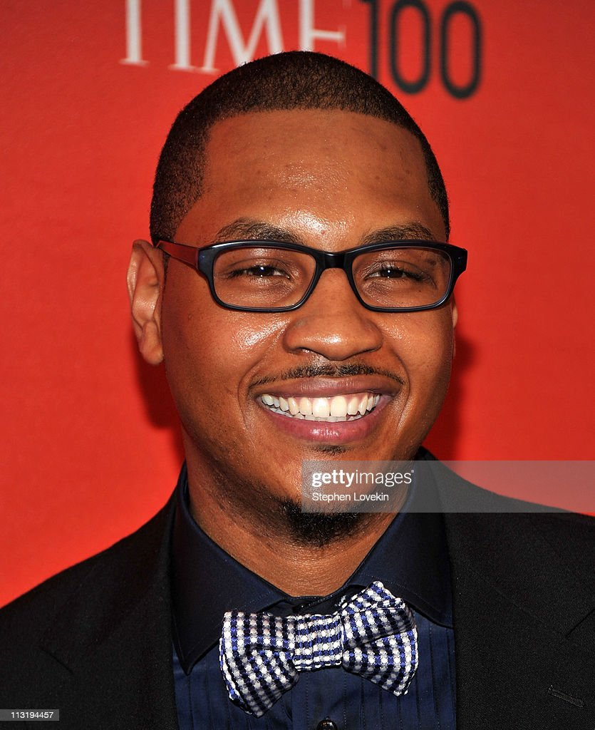 NBA player Carmelo Anthony of the New York Knicks attends the TIME 100 Gala, TIME'S 100 Most Influential People In The World at Frederick P. Rose Hall, Jazz at Lincoln Center on April 26, 2011 in New York City.