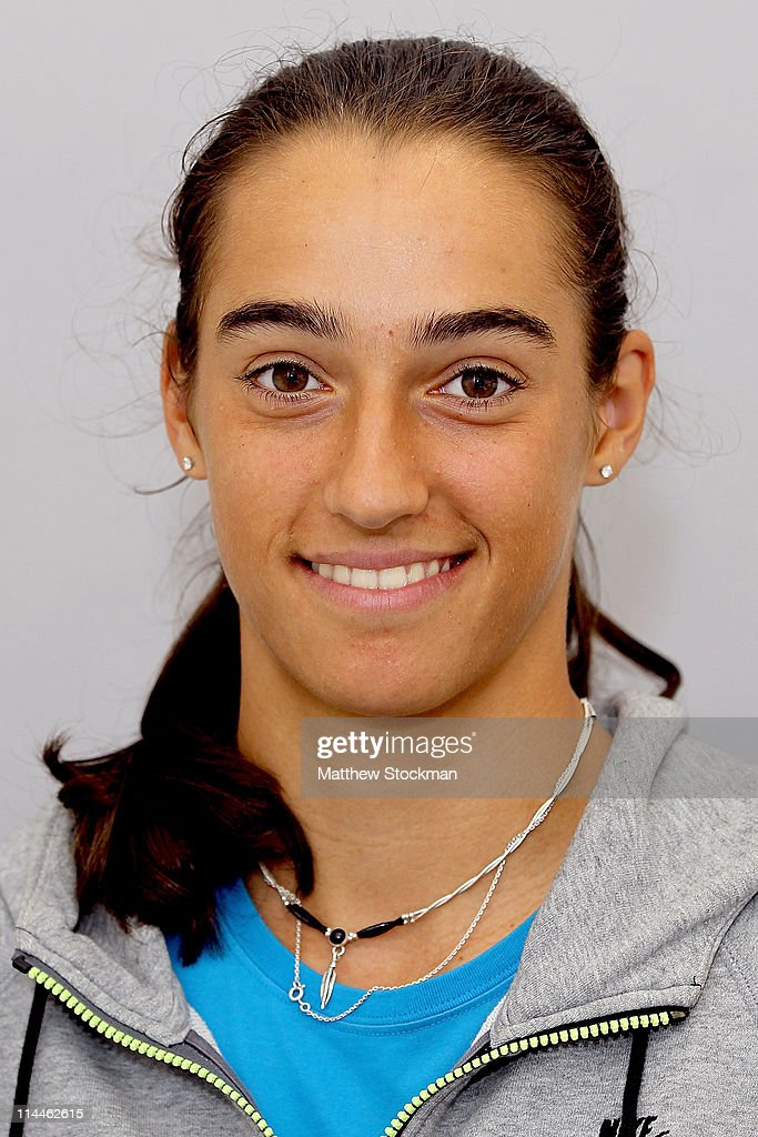 WTA player Caroline Garcia poses for a portrait at Roland Garros on May 20, 2011 - player-caroline-garcia-poses-for-a-portrait-at-roland-garros-on-may-picture-id114462615
