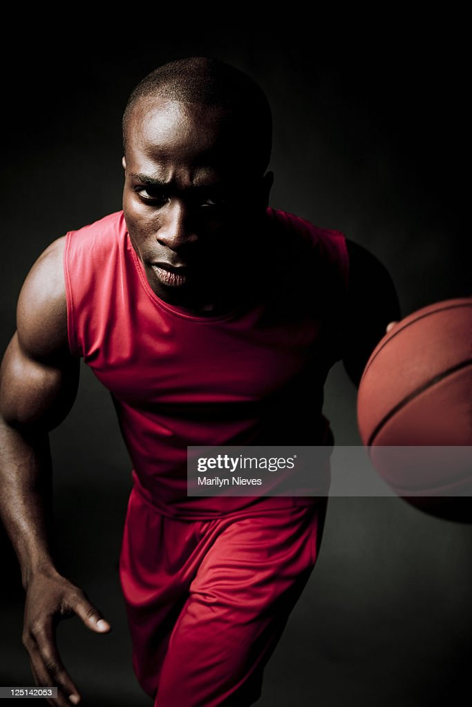 player catching basketball : Stock Photo