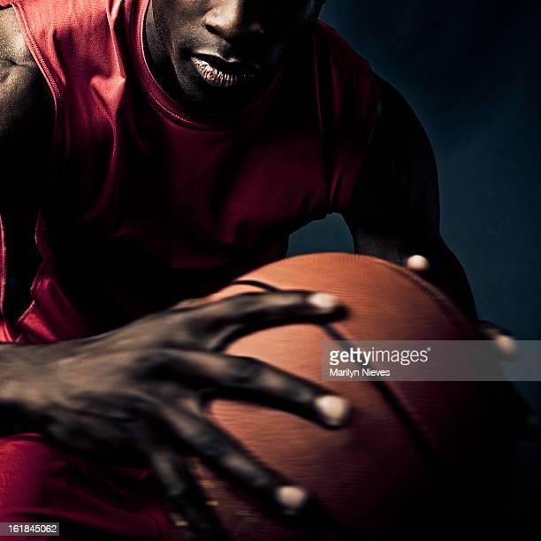 Auffällige basketball player