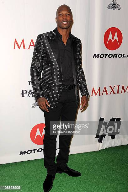 NFL player Chad Ochocinco Johnson attends the Maxim Party Powered by Motorola Xoom at Centennial Hall at Fair Park on February 5 2011 in Dallas Texas