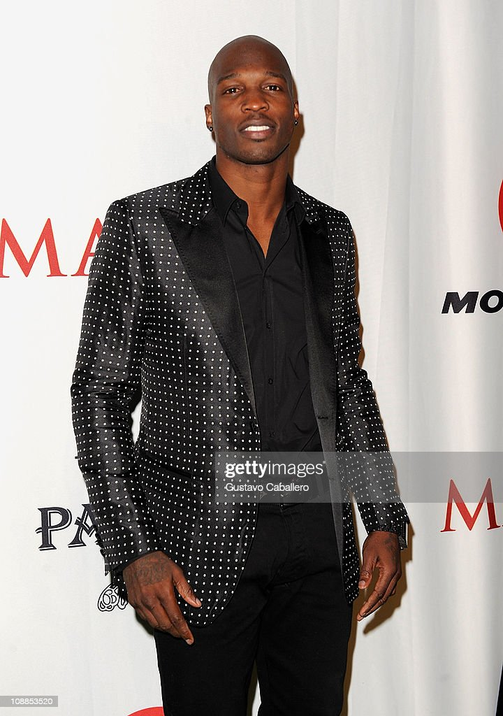 NFL player Chad Ochocinco Johnson attends the Maxim Party Powered by Motorola Xoom at Centennial Hall at Fair Park on February 5, 2011 in Dallas, Texas.