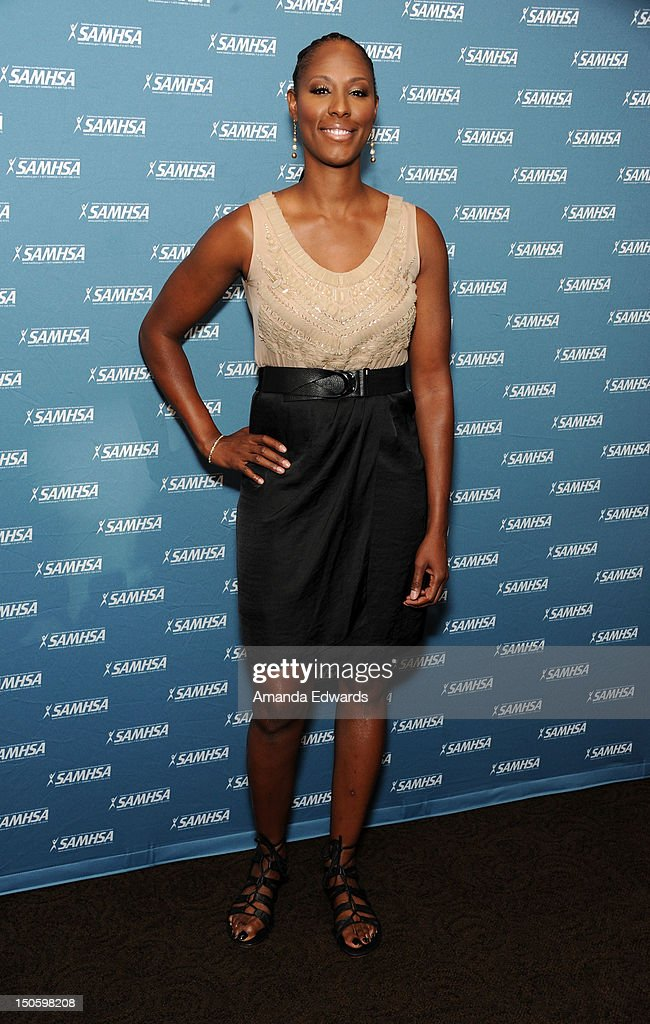 WNBA player Chamique Holdsclaw arrives at The Substance Abuse And Mental Health Services Administration 2012 Voice Awards at Paramount Studios on...