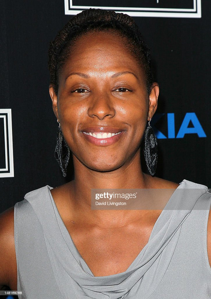 WNBA player Chamique Holdsclaw attends ESPN Magazine's celebration of its 4th annual Body Issue at the Belasco Theater on July 10 2012 in Los Angeles...