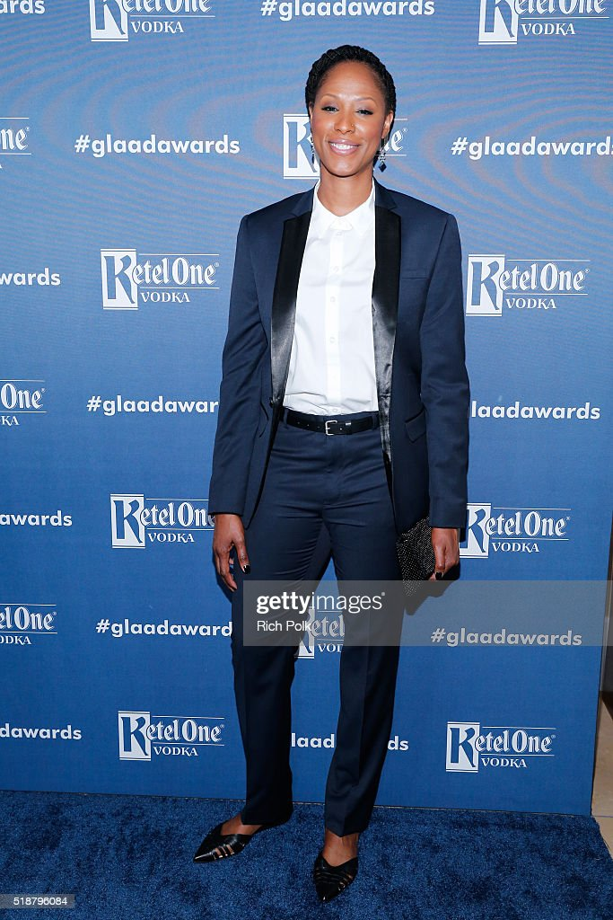 WNBA player Chamique Holdsclaw attends the 27th Annual GLAAD Media Awards hosted by Ketel One Vodka at the Beverly Hilton on April 2 2016 in Beverly...