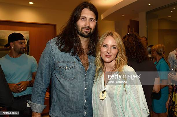 NFL player Charlie Whitehurst and musician Jewel attend the 24th Annual CAA BBQ at CAA Nashville on June 6 2016 in Nashville Tennessee