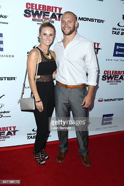 NFL player Chase Reynolds and wife Kila Reynolds attends Celebrity Sweat's After ESPYs VIP Bash at The Palm Restaurant on July 13 2016 in Los Angeles...