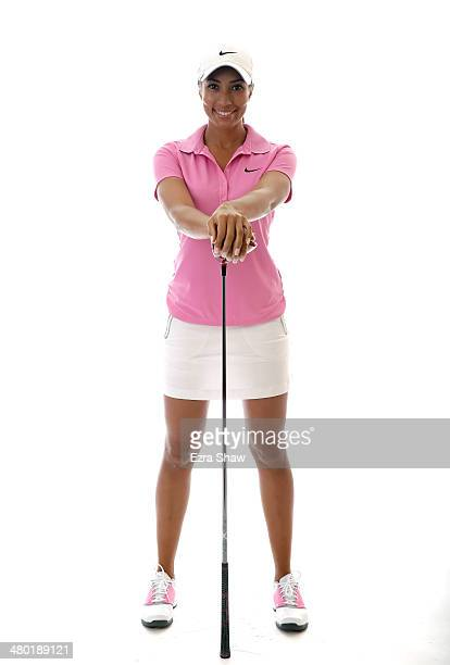 LPGA player Cheyenne Woods poses for a portrait prior to the start of the Founders Cup at the JW Marriott Desert Ridge Resort on March 19 2014 in...