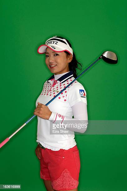 LPGA player Chie Arimura of Japan poses for a portrait prior to the start of the RR Donnelley Founders Cup at the JW Marriott Desert Ridge Resort on...