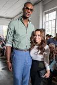 NBA player Chris Bosh and Adrienne Williams Bosh attend the Duckie Brown show during Spring 2013 MercedesBenz Fashion Week at Industria Superstudio...