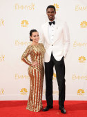 NBA player Chris Bosh and wife Adrienne Bosh attend the 66th annual Primetime Emmy Awards at Nokia Theatre LA Live on August 25 2014 in Los Angeles...
