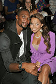 NBA player Chris Bosh and wife Adrienne Williams attend the General Idea Spring 2012 fashion show during MercedesBenz Fashion Week at The Studio at...