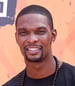 NBA player Chris Bosh arrives at Nickelodeon Kids' Choice Sports Awards 2016 at UCLA's Pauley Pavilion on July 14 2016 in Westwood California