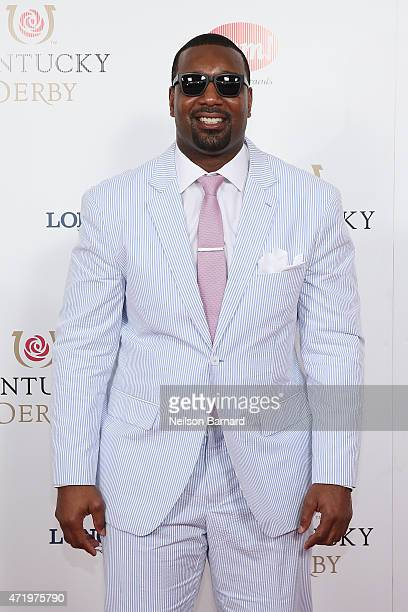 NFL player Chris Canty attends the 141st Kentucky Derby at Churchill Downs on May 2 2015 in Louisville Kentucky