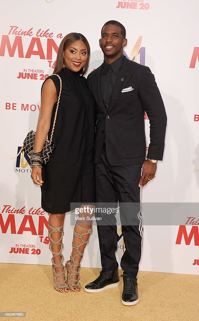 NBA player Chris Paul (R) and Jada Crawley arrive for the premiere of 'Think Like A Man Too' at TCL Chinese Theatre on June 9, 2014 in Hollywood, California.