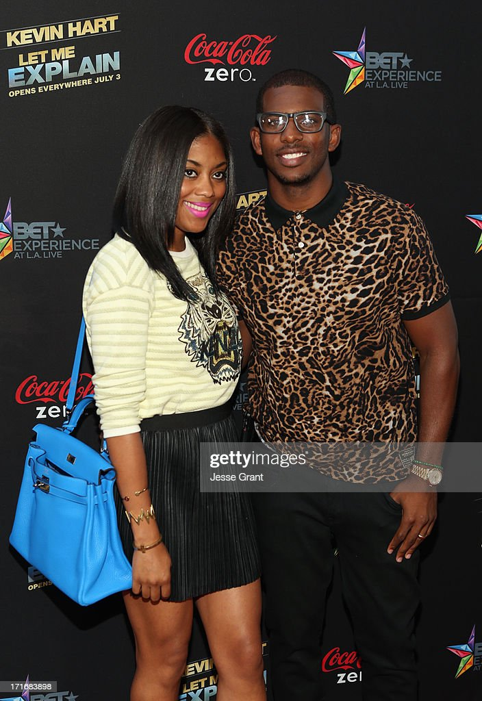 NBA player Chris Paul (R) and Jada Paul attend Movie Premiere 'Let Me Explain' with Kevin Hart during the 2013 BET Experience at Regal Cinemas L.A. Live on June 27, 2013 in Los Angeles, California.