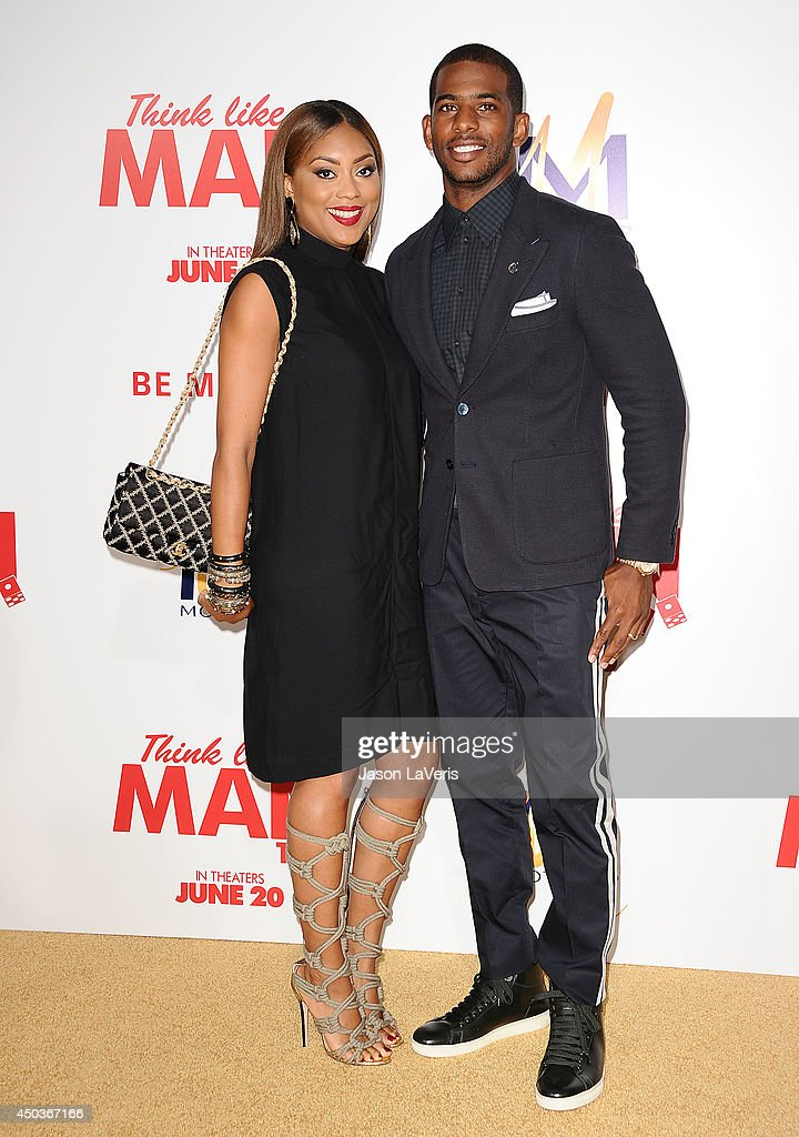 NBA player Chris Paul and wife Jada Crawley attend the premiere of 'Think Like A Man Too' at TCL Chinese Theatre on June 9 2014 in Hollywood...