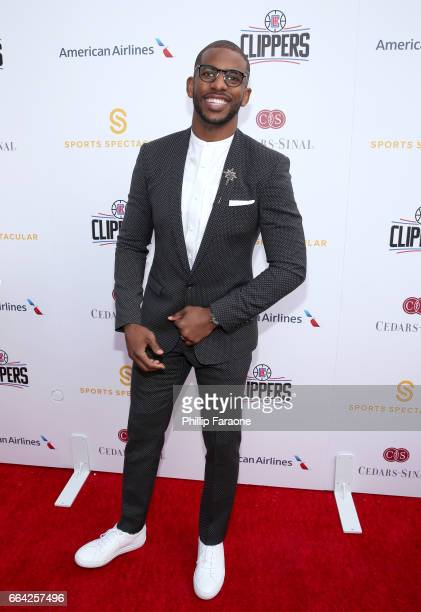 NBA player Chris Paul attends 32nd Annual CedarsSinai Sports Spectacular at W Los Angeles Westwood on April 3 2017 in Los Angeles California