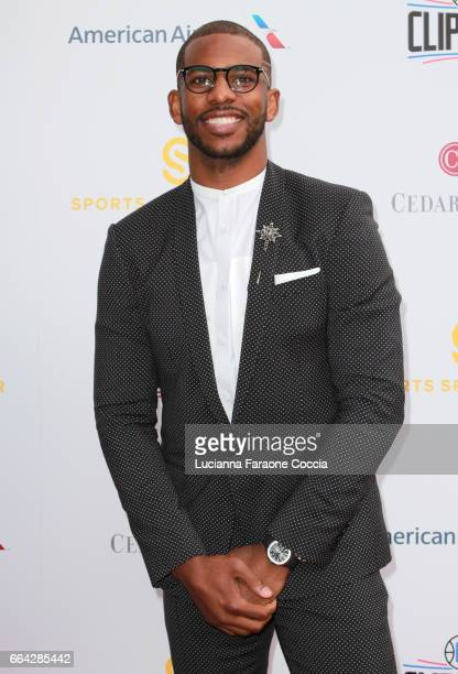 NBA player Chris Paul attends the 32nd Annual CedarsSinai Sports Spectacular Gala at W Los Angeles Westwood on April 3 2017 in Los Angeles California