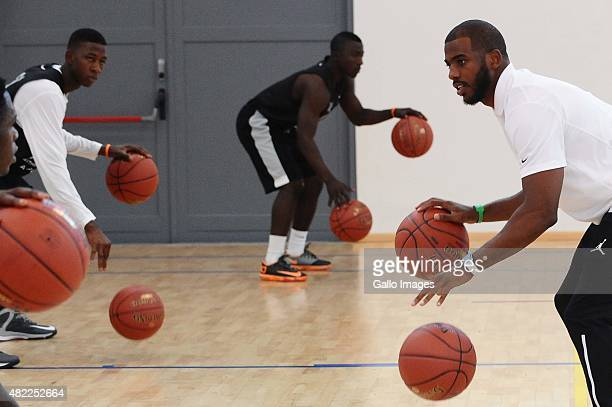 NBA player Chris Paul during the Basketball Without Borders Africa training at American International School on July 29 2015 in Johannesburg South...