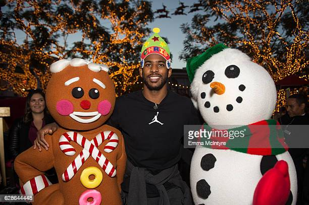 NBA player Chris Paul of the Los Angeles Clippers hosts a Feed the Children charity event at The Grove on December 8 2016 in Los Angeles California