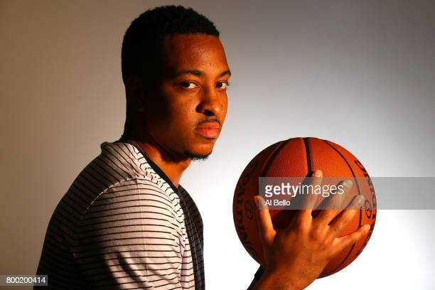 NBA player CJ McCollum poses for a portrait at NBPA Headquarters on June 23 2017 in New York City
