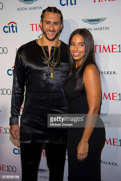 NFL player Colin Kaepernick and Nessa attend the 2017 TIME 100 Gala at Jazz at Lincoln Center on April 25 2017 in New York City