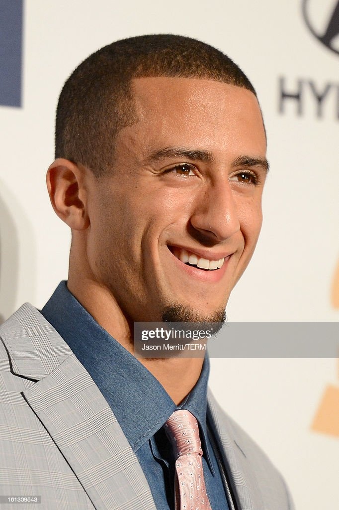 Player Colin Kaepernick arrives at Clive Davis & The Recording Academy's 2013 Pre-GRAMMY Gala and Salute to Industry Icons honoring Antonio 'L.A.' Reid at The Beverly Hilton Hotel on February 9, 2013 in Beverly Hills, California.