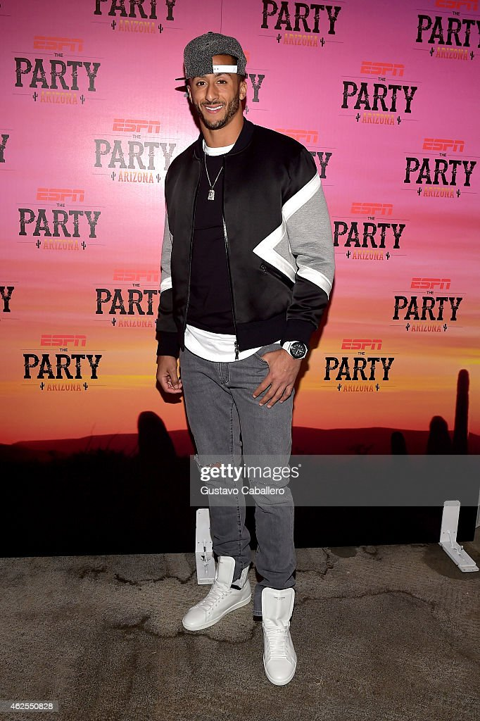 NFL player Colin Kaepernick attends ESPN the Party at WestWorld of Scottsdale on January 30 2015 in Scottsdale Arizona