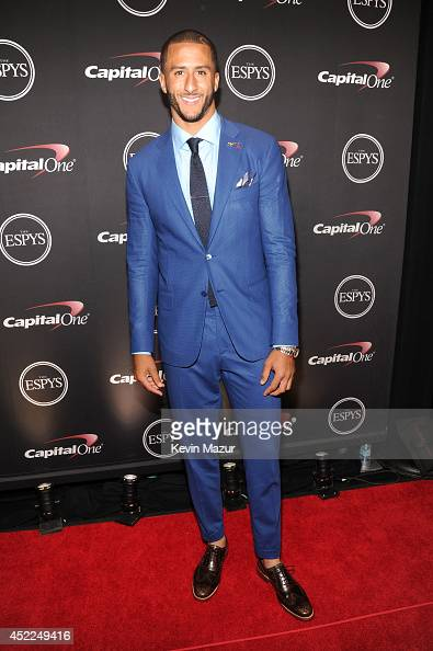 NFL player Colin Kaepernick attends The 2014 ESPY Awards at Nokia Theatre LA Live on July 16 2014 in Los Angeles California