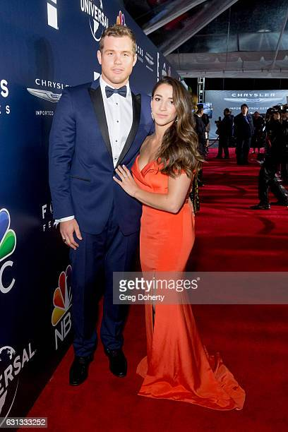 NFL player Colton Underwood and Olympic Gymnast Aly Raisman arrives at the NBCUniversal's 74th Annual Golden Globes After Party at The Beverly Hilton...