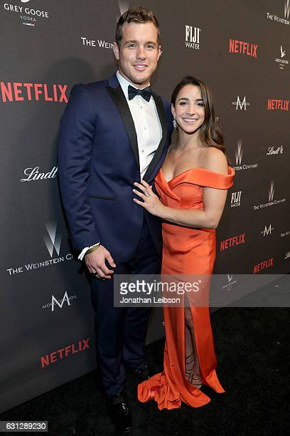 NFL player Colton Underwood and Olympic gymnast Aly Raisman at The Weinstein Company and Netflix Golden Globes Party presented with FIJI Water at The...