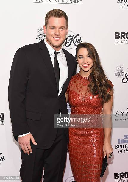 NFL player Colton Underwood and Olympic gymnast Aly Raisman attend the 2016 Sports Illustrated Sportsperson of the Year at Barclays Center of...