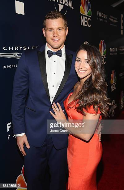 NFL player Colton Underwood and Olympic Gymnast Aly Raisman attend the Universal NBC Focus Features E Entertainment Golden Globes after party...