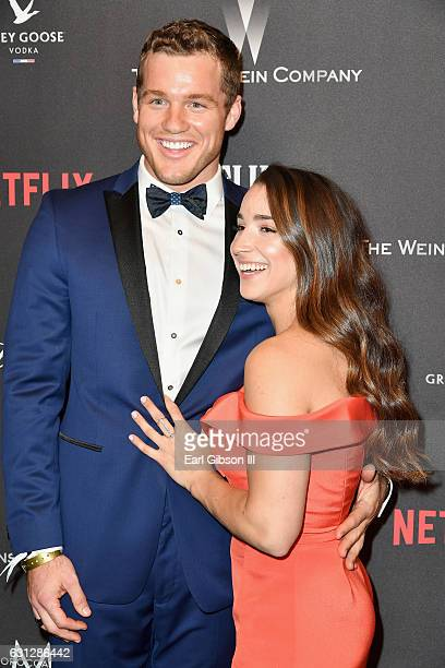 NFL player Colton Underwood and Olympic gymnast Aly Raisman attends The Weinstein Company and Netflix Golden Globe Party presented with FIJI Water...