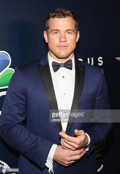 NFL player Colton Underwood attends the Universal NBC Focus Features E Entertainment Golden Globes after party sponsored by Chrysler on January 8...