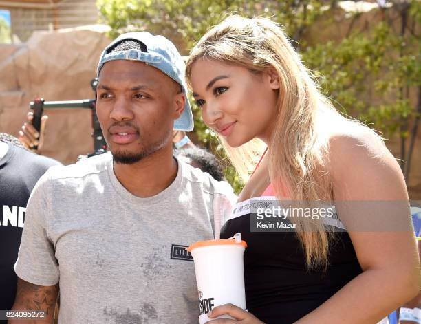 NBA player Damian Lillard makes a splash at JBL Poolside one of the many events a part of JBL Fest an exclusive threeday music experience hosted by...