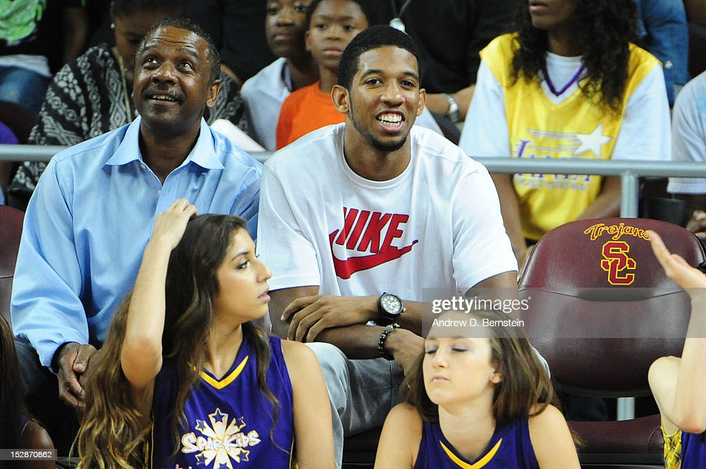 NBA Player Darius Morris attends Game 1 of the WNBA Western Conference Semi Finals between the San Antonio Stars and the Los Angeles Sparks at Galen Center on September 27, 2012 in Los Angeles, California.