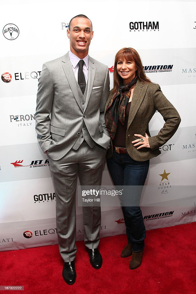 Player David Wilson and TV personality <a gi-track='captionPersonalityLinkClicked' href=/galleries/search?phrase=Jill+Zarin&family=editorial&specificpeople=4436962 ng-click='$event.stopPropagation()'>Jill Zarin</a> attend the launch of the new Maserati in Manhattan showroom and the preview of the 2014 Maserati Ghibli III on November 7, 2013 in New York City.