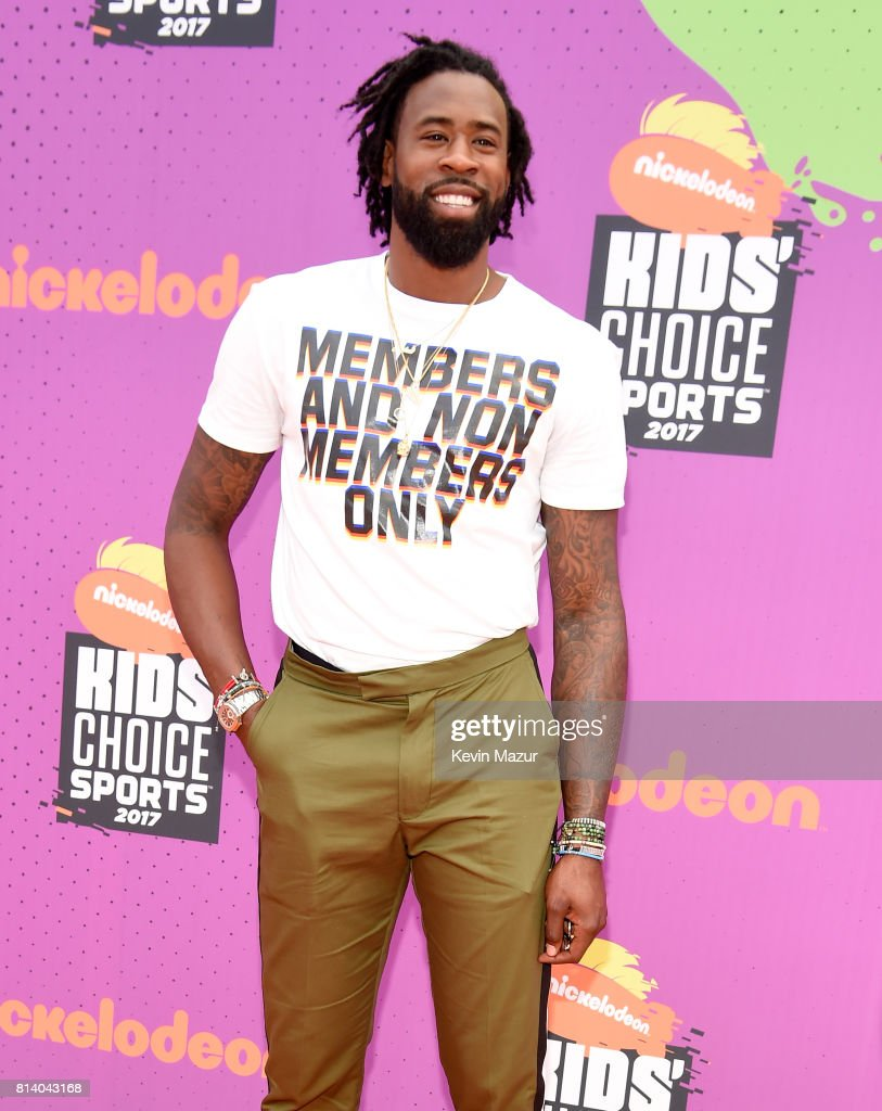 NBA player DeAndre Jordan attends Nickelodeon Kids' Choice Sports Awards 2017 at Pauley Pavilion on July 13, 2017 in Los Angeles, California.