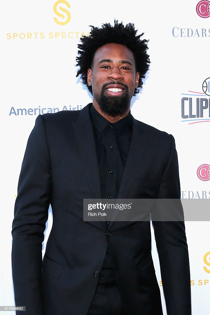 NBA player <a gi-track='captionPersonalityLinkClicked' href=/galleries/search?phrase=DeAndre+Jordan&family=editorial&specificpeople=4665718 ng-click='$event.stopPropagation()'>DeAndre Jordan</a> attends the Cedars-Sinai Sports Spectacular at W Los Angeles – West Beverly Hills on March 25, 2016 in Los Angeles, California.