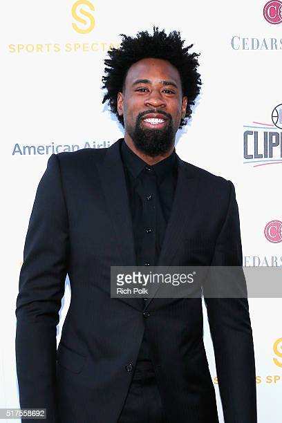 NBA player DeAndre Jordan attends the CedarsSinai Sports Spectacular at W Los Angeles – West Beverly Hills on March 25 2016 in Los Angeles California