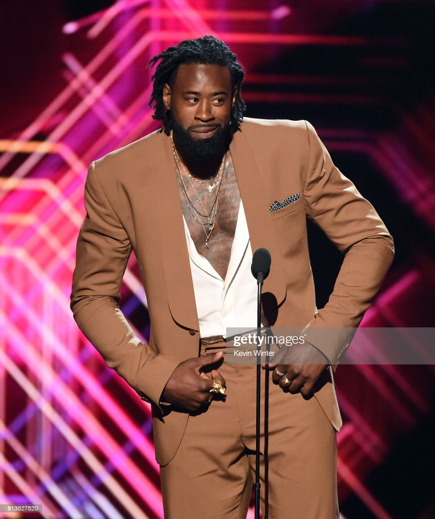 NBA player DeAndre Jordan speaks onstage at The 2017 ESPYS at Microsoft Theater on July 12, 2017 in Los Angeles, California.