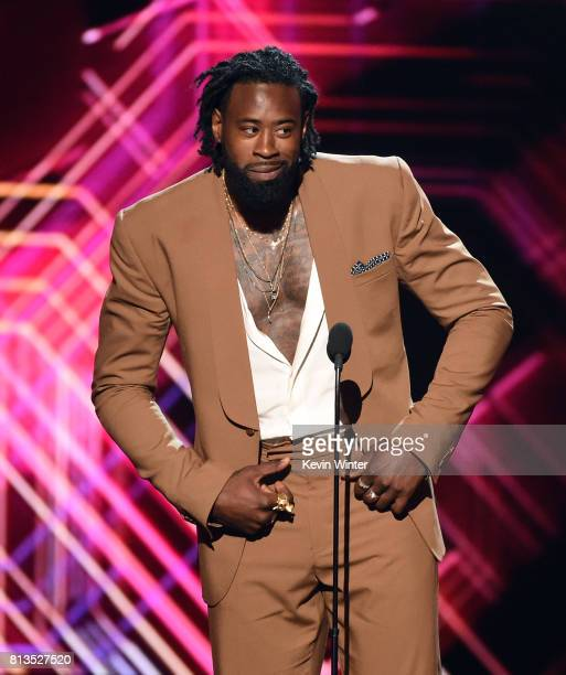 NBA player DeAndre Jordan speaks onstage at The 2017 ESPYS at Microsoft Theater on July 12 2017 in Los Angeles California